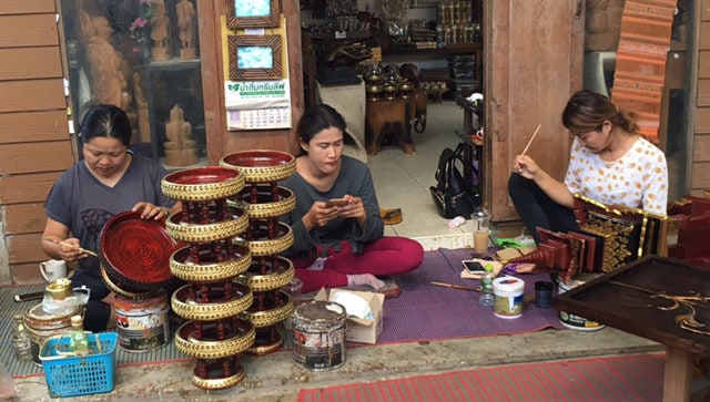 Collecting Thai lacquerware