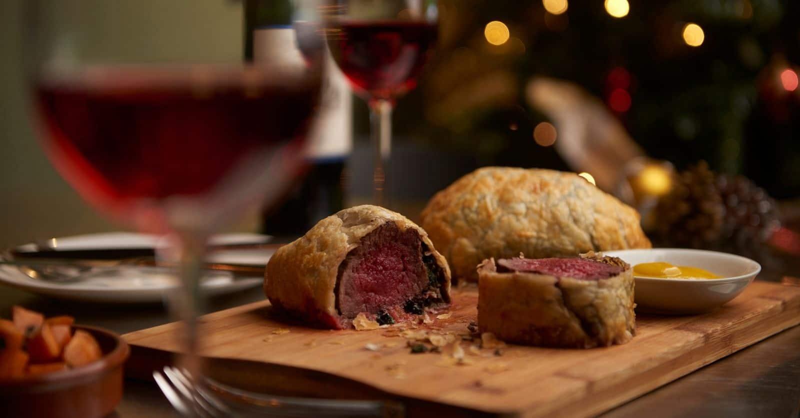 beef wellington wine pairing
